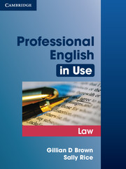 Professional English in Use Law 9780521685429